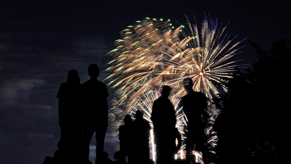 Fourth of July fireworks light up night sky in Washington, DC and New York City