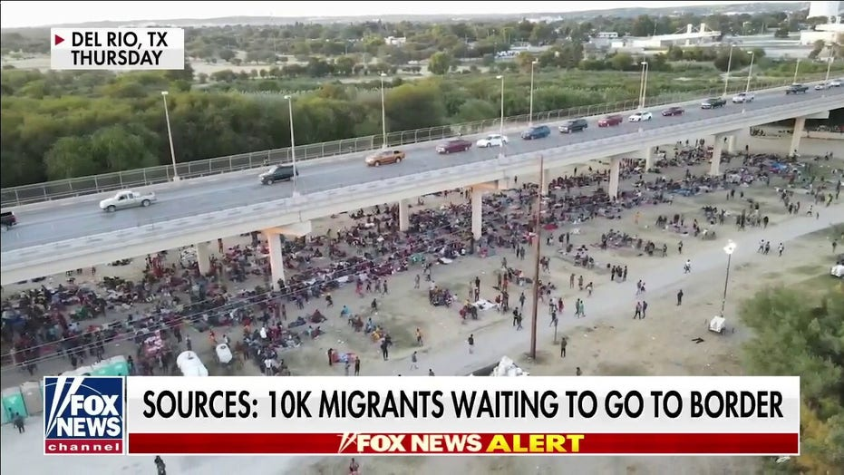More images emerge of Haitian migrant surge at Del Rio as numbers soar past 11,000