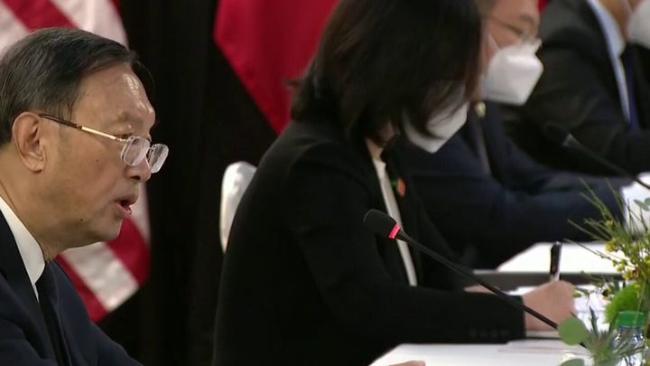 US, China spar at Alaska summit in first face-to-face meeting under Biden