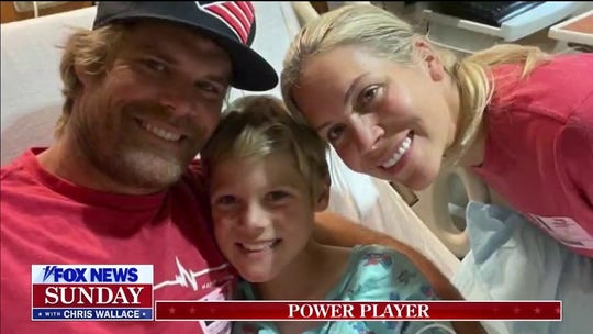 Greg Olsen's son TJ rings bell after successful heart transplant surgery