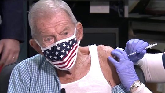 100-year-old World War II veteran becomes 1 millionth Florida senior citizen to receive coronavirus vaccine