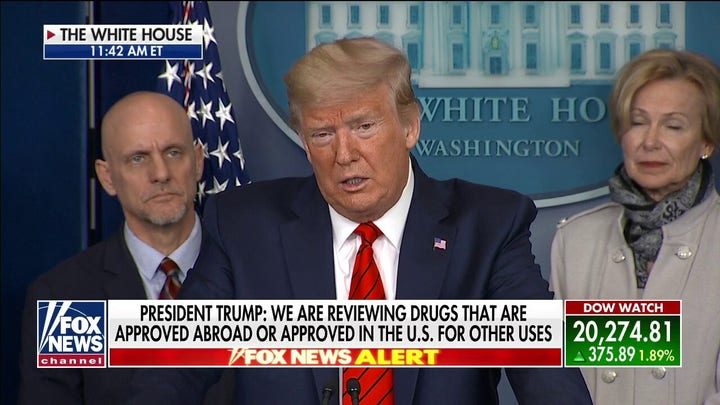 President Trump: A 'common malaria drug' has shown very encouraging results against COVID-19