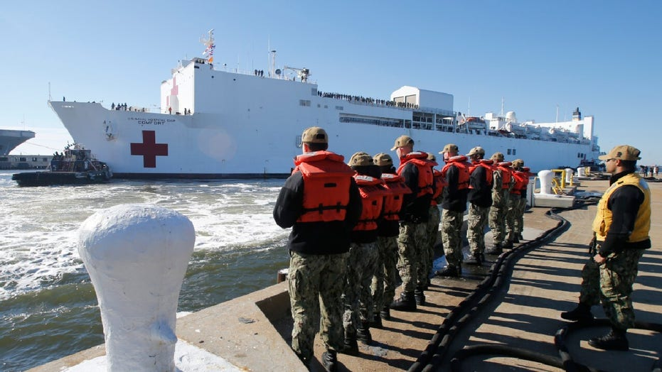 USNS Comfort embarks to NYC to help hospitals dealing with COVID-19 pandemic