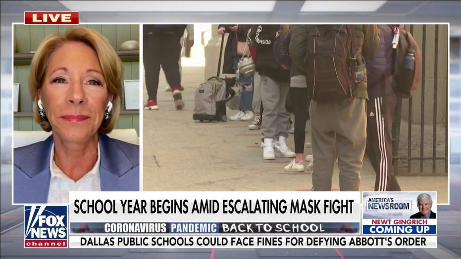 Betsy DeVos on escalating mask debate: 'Leave these decisions to parents'