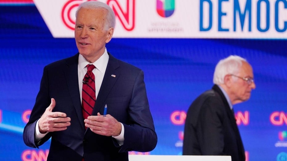 Joe Biden and Bernie Sanders go head-to-head in Democratic presidential debate faceoff