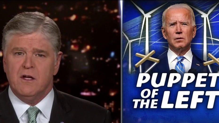 Hannity blasts 'struggling' Biden for 'wreaking havoc' on economy with 'Green New Deal agenda'