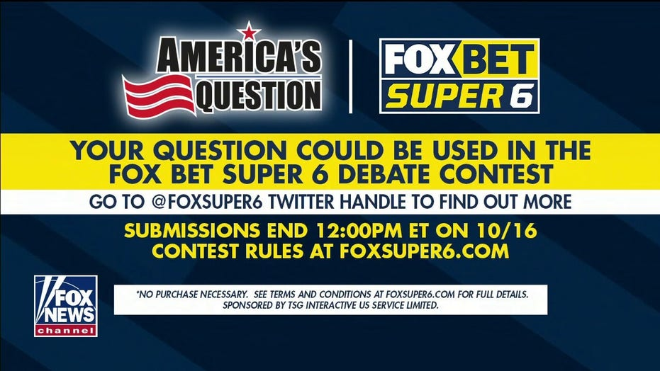 Submit your question for the FOX Bet Super 6 Debate contest