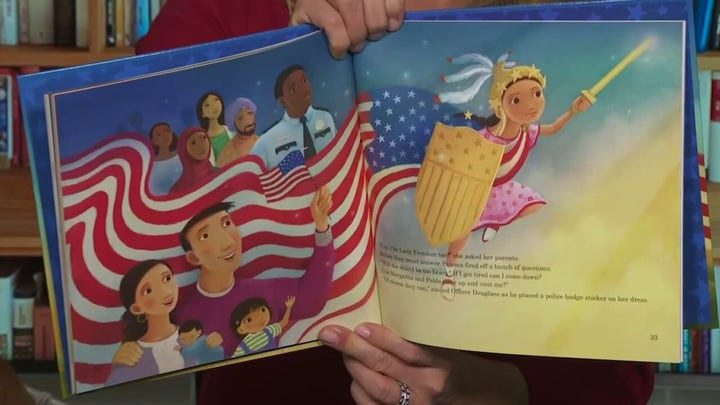 Dana reads 'Paloma Wants to be Lady Freedom'