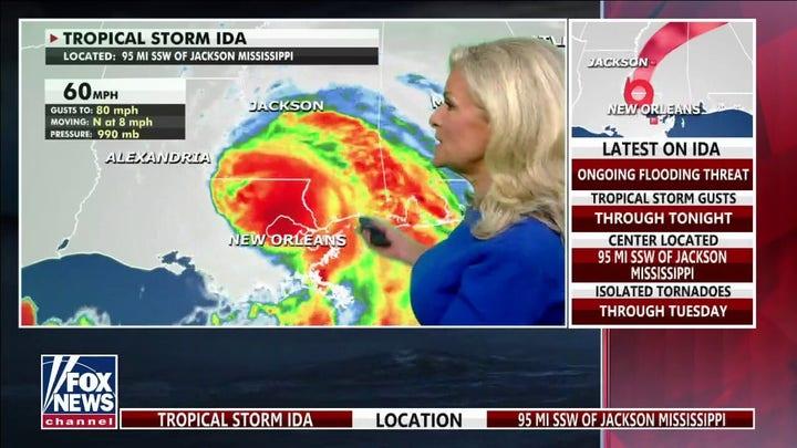 Tropical Storm Ida moves inland, carries tornado, heavy rainfall threat