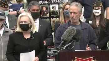 Gillibrand, Jon Stewart, veterans and lawmakers hold news conference on burn pit legislation