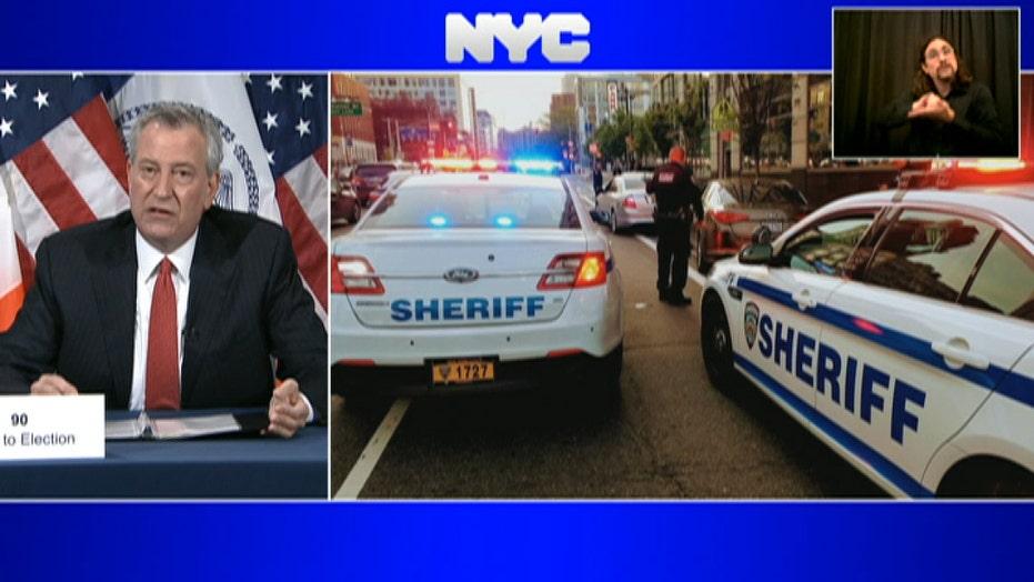 De Blasio announces coronavirus quarantine checkpoints at New York City entry points