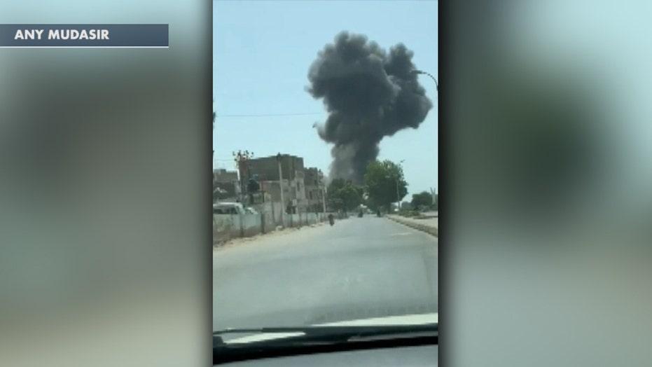 Black smoke seen rising from passenger plane crash in Karachi, Pakistan