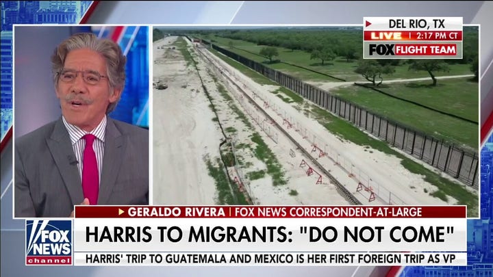 Geraldo blasts Biden on border security as Harris travels to Guatemala