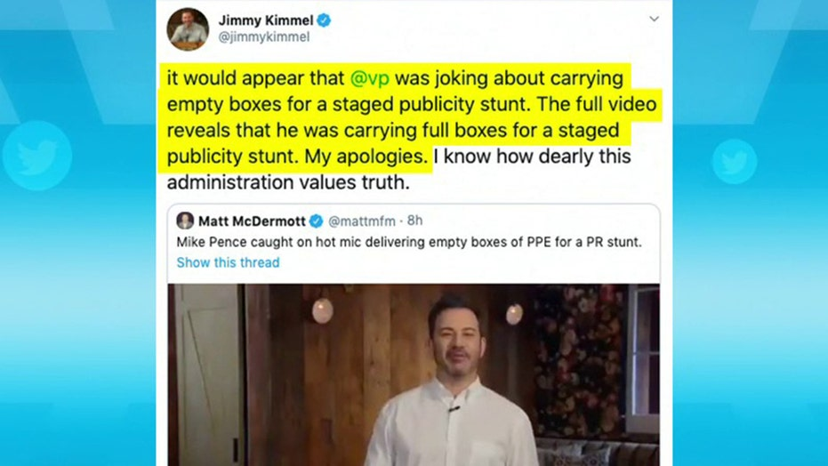 Jimmy Kimmel apologizes to Pence