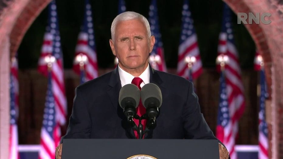 Mike Pence: Re-elect Donald Trump and with God's help we'll make America great again, again