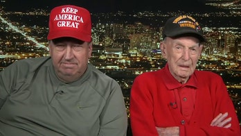 100-year-old veteran carried to his front row seat at Trump rally