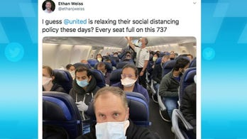 Joe Piscopo reacts to doctor tweeting photo of packed United flight