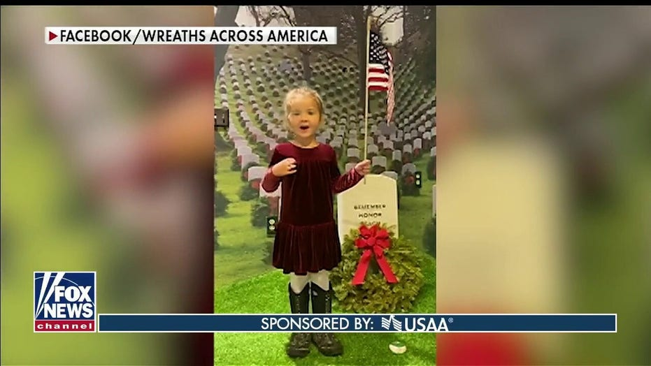 Wreaths Across America challenge families to recite the Pledge of Allegiance each day at home
