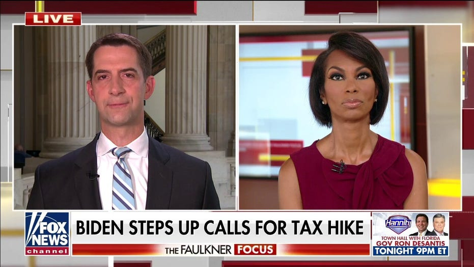 Cotton: Biden's 'reckless tax and spending scheme will hit American's pocketbooks when they can't afford it'