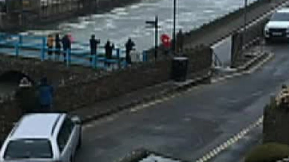 UK Storm surge isn't stopping these surfers