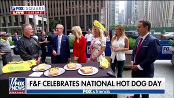 'Fox & Friends' hosts celebrate National Hot Dog Day with Nathan's Famous