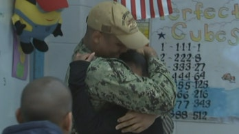 Maryland sailor surprises siblings after 11-month deployment