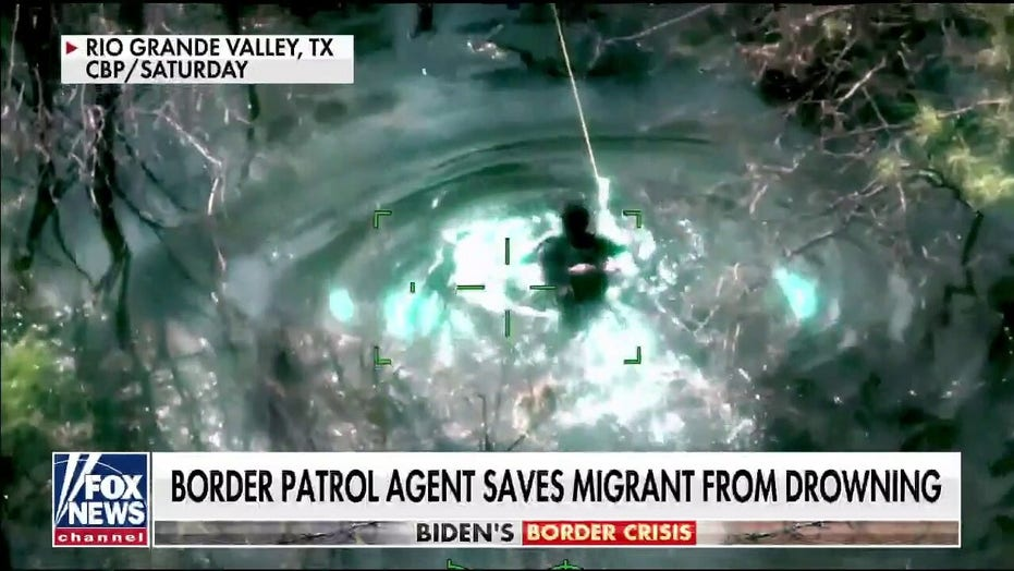 Border Patrol agent saves migrant child from near drowning, video shows