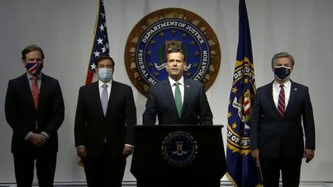 The FBI holds a major news conference on 2020 election security