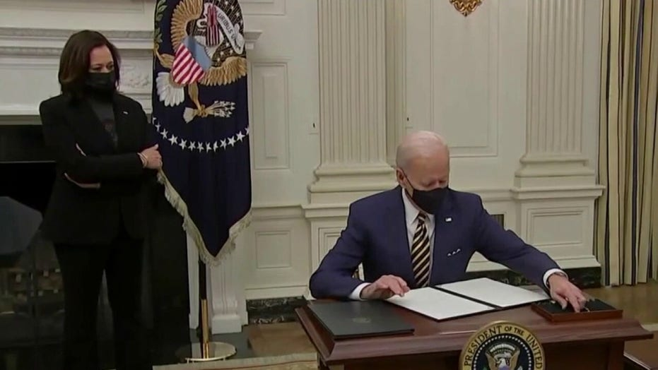 Biden and son Hunter attend first mass as president in DC