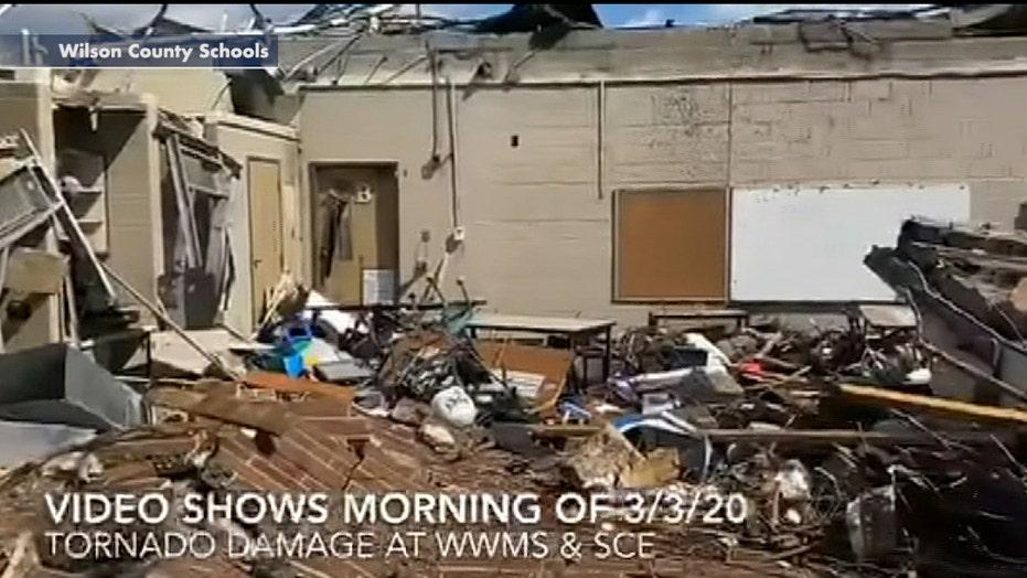 Tornado tears through Tennessee elementary school