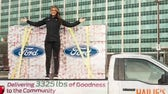 Ford NASCAR driver on delivering over 1.5 tons of donated turkeys in an F-150