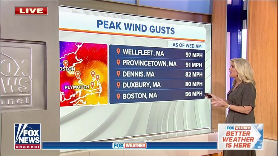 Nor'easter brings windy weather to New England as Gulf Coast forecast to see storms