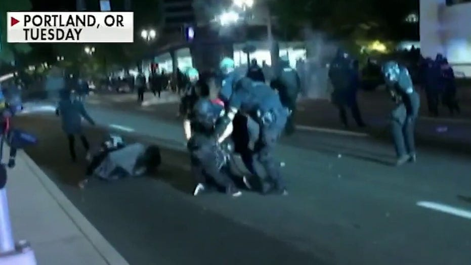 Riot declared on 90th night of Portland protests