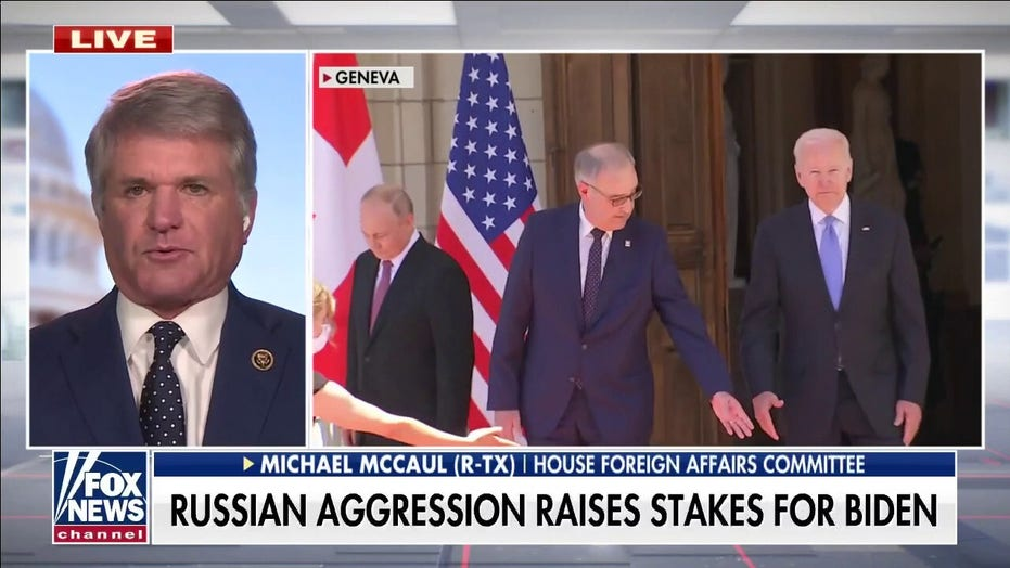 Rep. McCaul: Putin must be told 'enough is enough' on cyberattacks and that US will 'hit back'