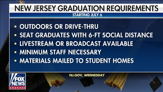 New Jersey to allow outdoor graduation ceremonies in July after students sue governor