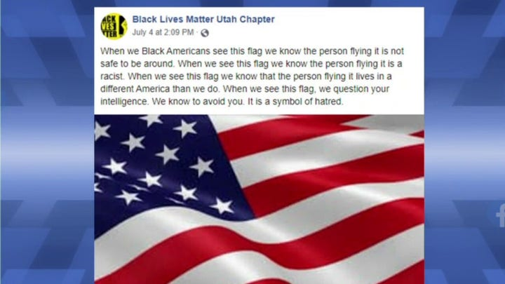 BLM chapter declares U.S. flag a hate symbol