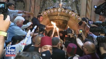 Christian Orthodox gather for Holy Fire ceremony in Jerusalem