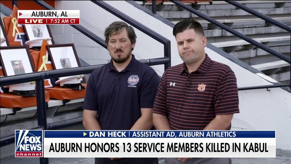 Auburn opens football season with stadium tribute to US service members killed in Afghanistan attack