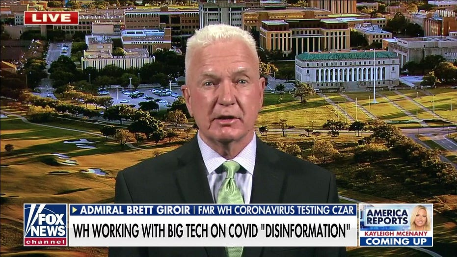 Biden admin flagging Facebook 'misinformation' a 'disastrous policy,' Adm. Brett Giroir warns
