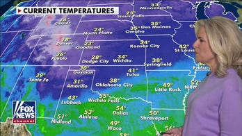 National weather forecast: Strong cold front slices through central US