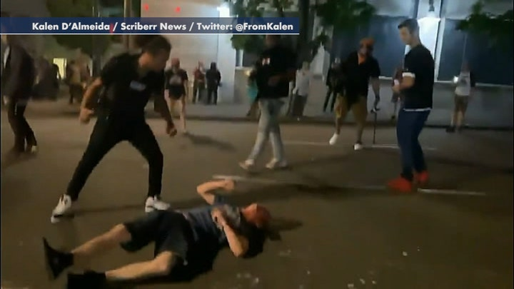 GRAPHIC VIDEO WARNING: Portland man attacked after crashing truck near violent protests