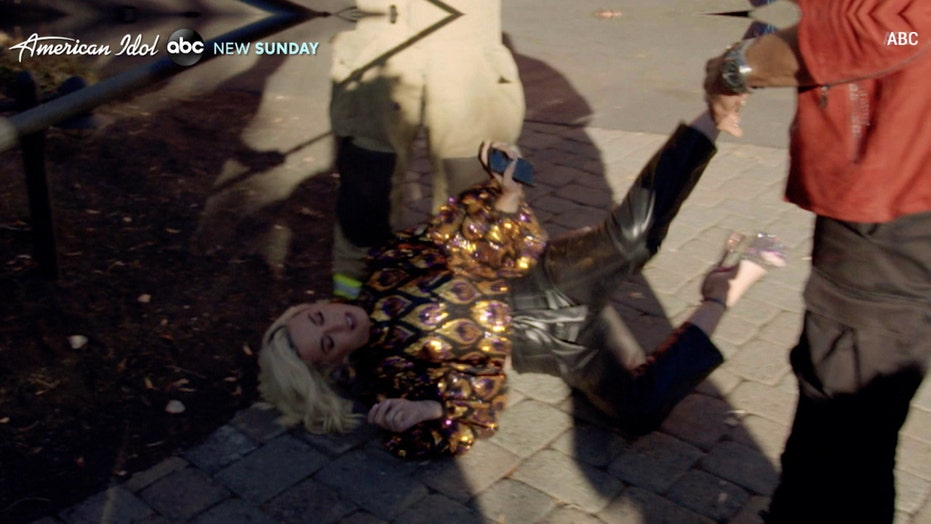 Katy Perry collapses on 'American Idol' from gas leak