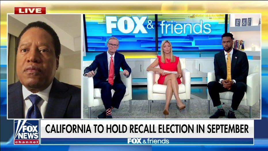 Larry Elder blasts Gavin Newsom and announces he will run for California governor: 'We need to recall this guy'