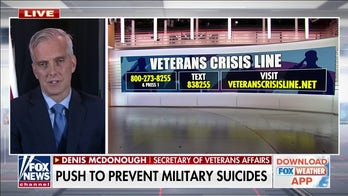 Veterans Affairs pushes to improve mental health support for veterans