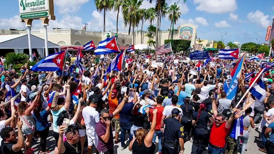 Demonstrations in Miami show support for Cuba: 'Cuba has to be free'