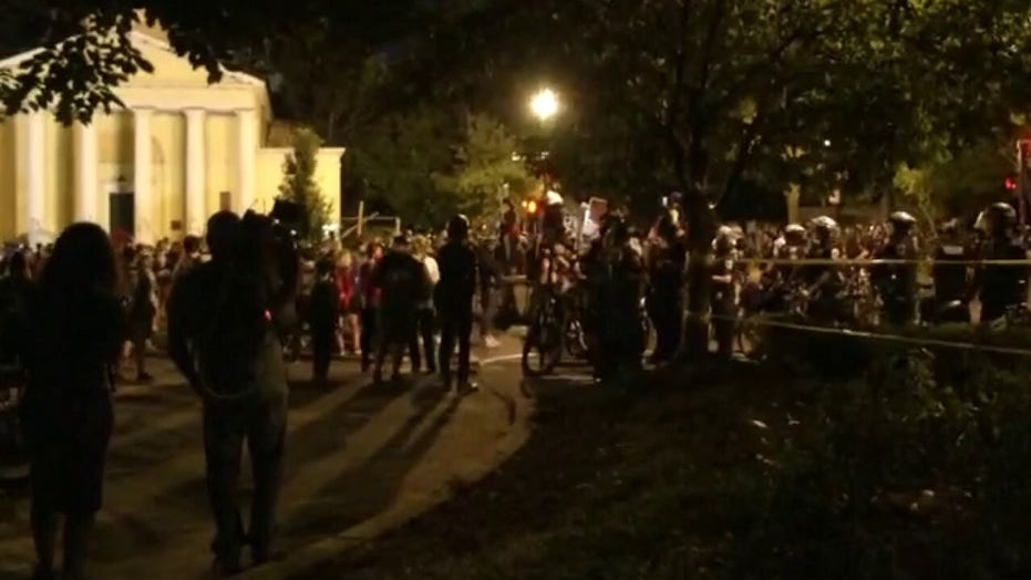 Protesters attempt to establish so-called 'autonomous zone' in Washington, DC