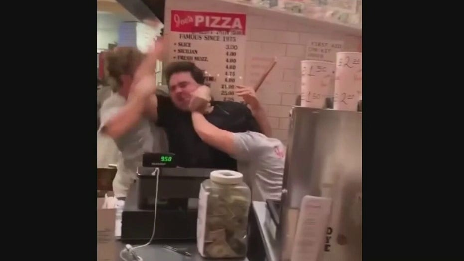 NYC pizza shop brawl between employees, customers caught on viral video