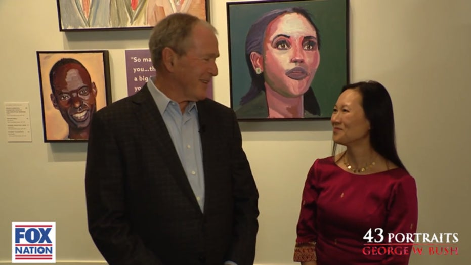 George W. Bush weighs in on the immigration debate through art on Fox Nation