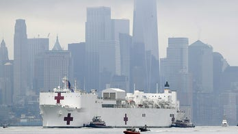 USNS Comfort wows during arrival at New York Harbor