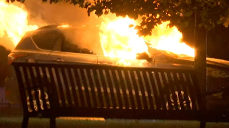 Louisville police arrest at least 25 demonstrators for setting fires, vandalism
